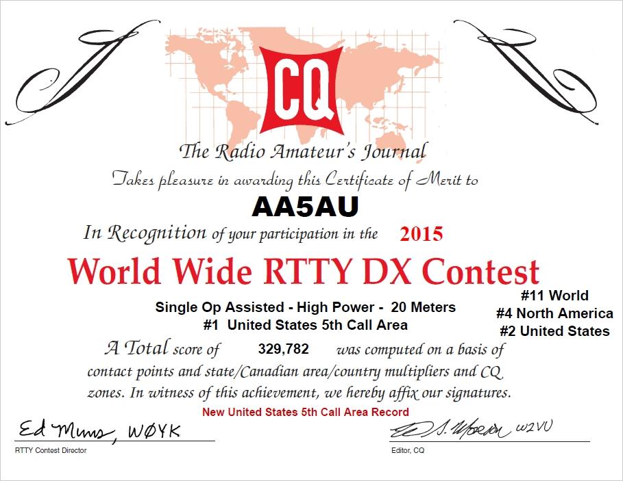 2015 CQWW RTTY DX Contest