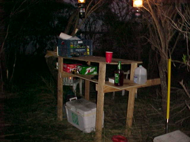 This was our new table at the campsite.  Hurricane Lili took out our old one.