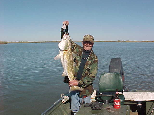 Dick weighing another big redfish.