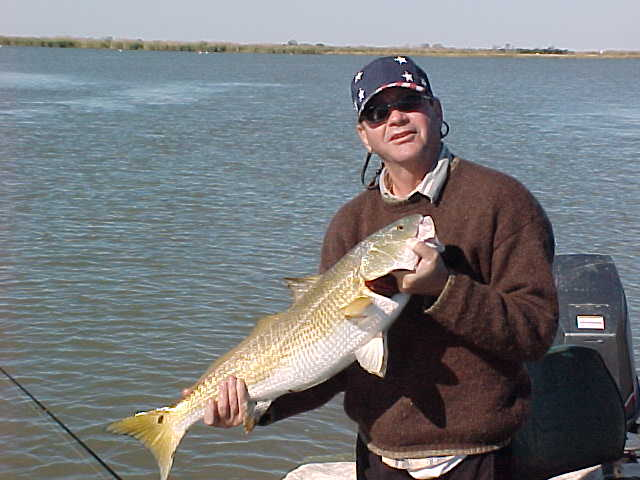 Joe with a nice redfish.