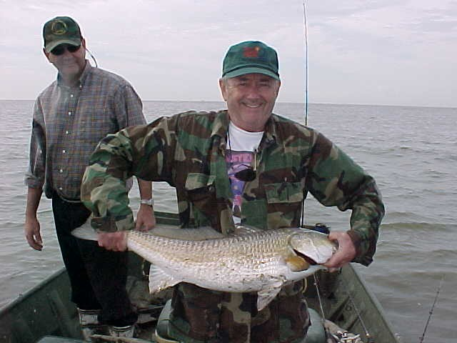 Dick shows off another nice redfish.