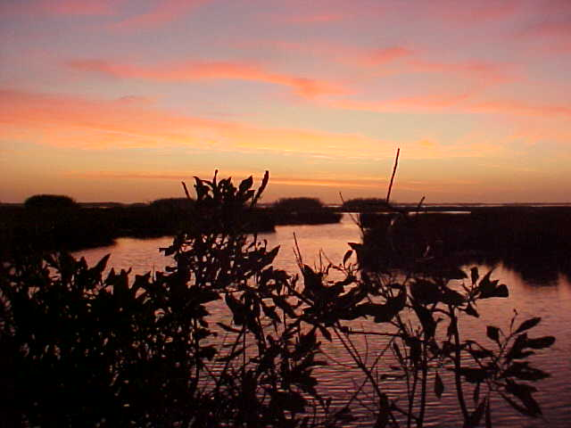 A beautiful sunrise over the marsh Sunday morning.